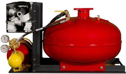 """Imagem de Skid Veicular com tanque pressurizado e carretel para mangueira de 1"""""""